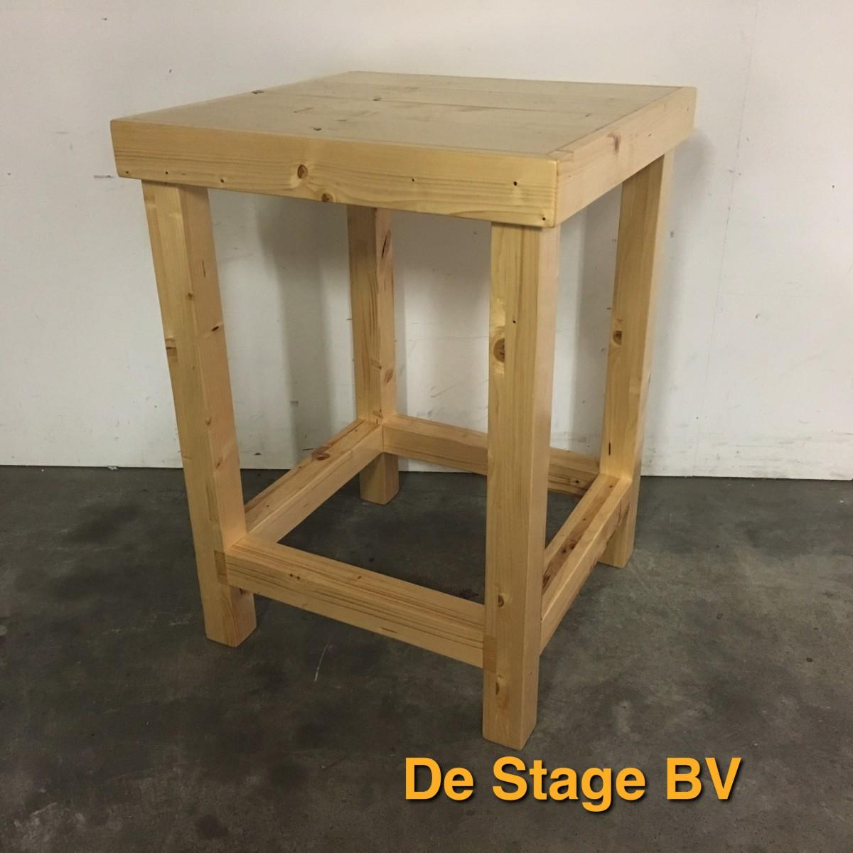 Bekend Statafel Steigerhout 80×80 cm (Huur) – De Stage BV IJ51